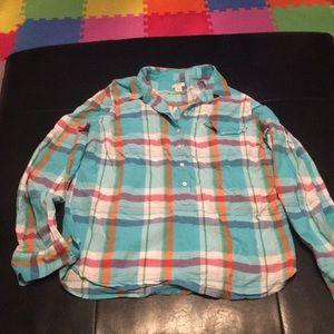 Multi colored J Crew shirt